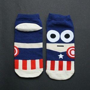 Women's Captain America ankle socks